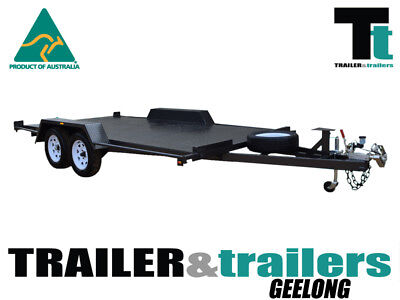 16X6'6 Semi-Flat Car Carrier | Spare And Jockey | 7Ft Checkerplate Ramps |