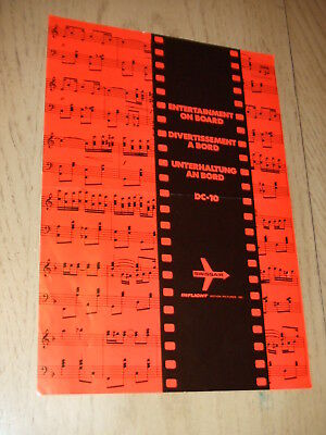 RARE 1970 Swissair Airlines Inflight Pictures Entertainment On Board Flyer DC-10