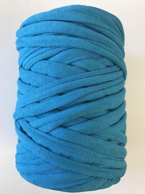 Medium T-Shirt Recycled Jersey Knitting Crochet Rug Yarn Kingfisher