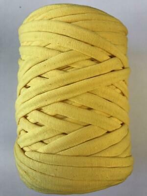 Medium T-Shirt Recycled Jersey Knitting Crochet Rug Yarn Yellow