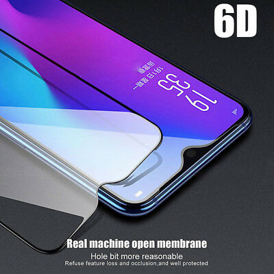 1/2PCS For Oneplus 6T 6D Full Coverage 9H Tempered Glass Film Screen Protector