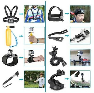 32in1 Chest Mount Strap GoPro Hero 2 3 4 5 Camera Accessories Pack Outdoor US