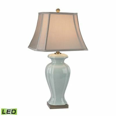 """Dimond Lighting D2632-LED 1-Light 29"""" Height LED Table Lamp, Ceramic Collection"""