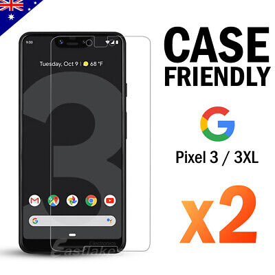 2x Pixel 3a XL 3 XL 9H Premium Tempered Glass Screen Protector Film For Google