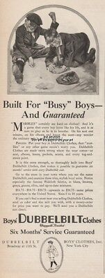 1920 Boys Dubbelbilt Clothes New York Marbles Game Six Month Without Mending Ad