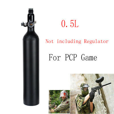 0.5L Aluminum Tank Air Cyclinder Bottle 3000 PSI For Airsoft Paintball PCP