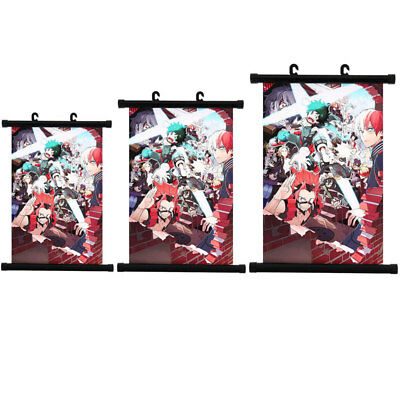 My Hero Academia Scroll Painting Home Wall Picture Hanging Poster Decor Gift