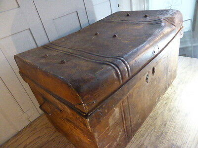 Antique Edwardian tin cabin or travelling trunk