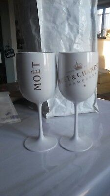 MOET ET CHANDON  1 VERRE COUPE Ice Imperial Acrylic Edition BLANCHE OR Champagne