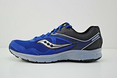dafab628cf13 Mens Saucony Grid Cohesion 10 Running Shoes Size 10.5 Black Grey Blue  S25333-3