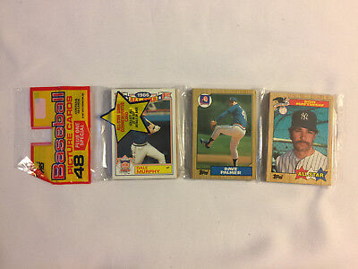 1987 Topps BASEBALL RACK PACK with DON MATTINGLY ALL-STAR showing on top