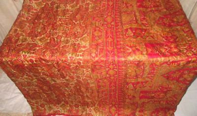 Multi-color Pure Silk 4 yard Vintage Sari Saree Pattern Patterns acting #9BM0F