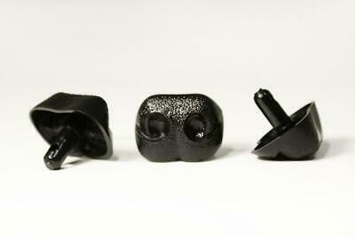Plastic Animal Safety NOSES Toy Components & Teddy Bear Making 23mm BLACK