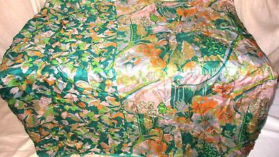 Multi-color Pure Silk 4 yard Vintage Sari Saree Hip PO Box Shipping Spain #9BMK0