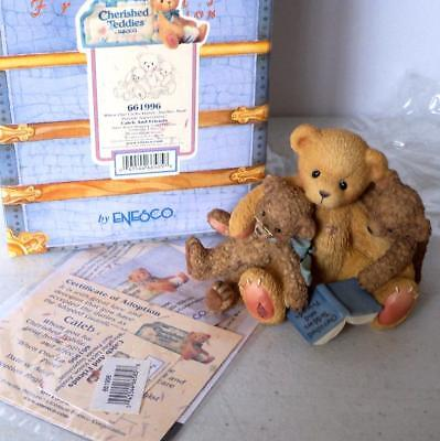 Cherished Teddies Figurine CALEB and FRIENDS 1999 #661996