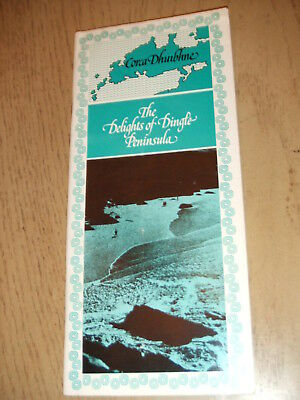 RARE 1970s Corca Dhuibhne Dingle Peninsula Ireland Tourist Booklet Milltown IRE
