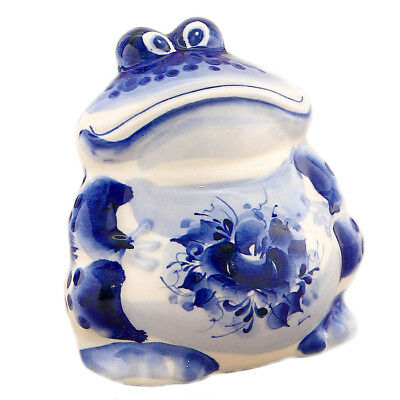 Figurine Crapaud collection grenouille en porcelaine Crapaud en céramique russe