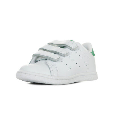 75f26a3c83325 Chaussures Baskets adidas bébé Stan Smith cf i taille Blanc Blanche Cuir