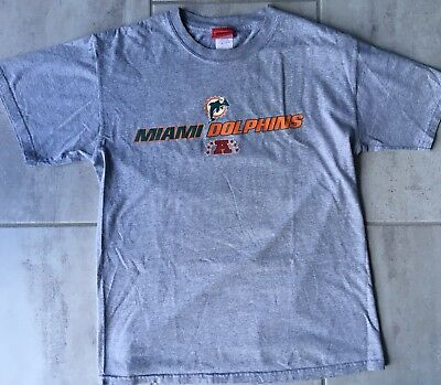 NFL Miami Dolphins American Football Conference T-Shirt Gray Men s Size  Medium 47c1d488c