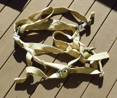 WW2 USAAF US Army Air Force Aircraft Pilot Parachute Harness