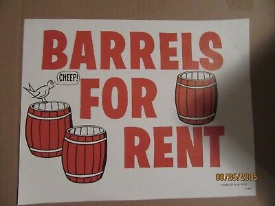"Harolds Club Casino Reno ""barrels For Rent"" Sign"