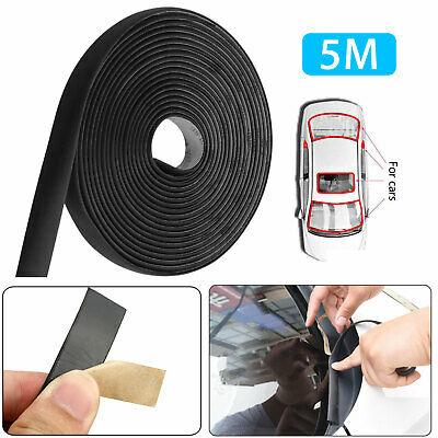"""5M 196"""" Waterproof Rubber Seal Weather Strip Trim for Car Front Rear Windshield"""