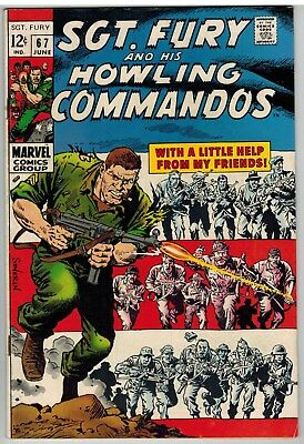 Sgt Fury And His Howling Commandos #67 1969 Marvel Silver Age Nice!
