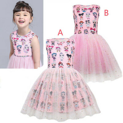 UK Lol Surprise Doll Girls Princess Dress Kids Baby Party Holiday Birthday Dress