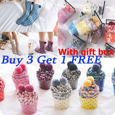 Christmas Ladies Fluffy Womens Socks Winter Warm Cosy Lounge Bed Socks Xmas Gift