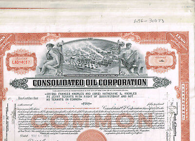 Set 12 Consolidated Oil Corp., 1930-40s, brown, VF