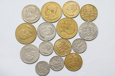 Kenya Old Currency Coin Set A98 Xw36