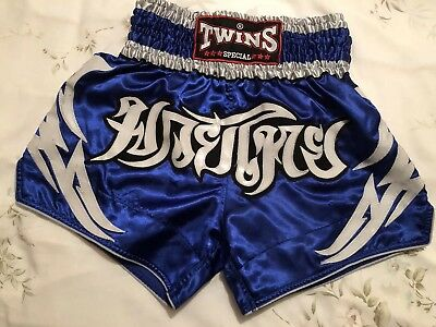Twins Special Muay Thai, Thai Boxing shorts blue size large