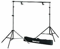 Manfrotto light stand background paper support system black J typ<Japan import>