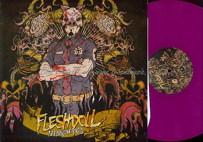 LP--  Fleshdoll ‎– Feeding The Pigs // PINK VINYL