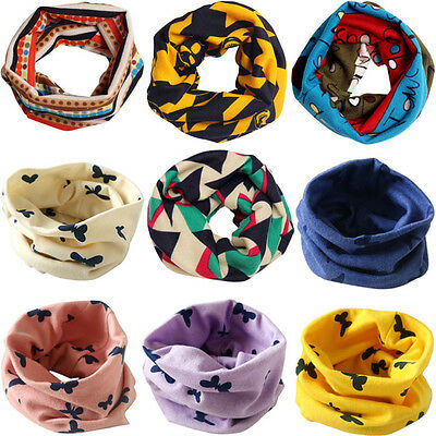 Fall Winter Warm Scarf Kids Baby Boy Girl Snood Shawl Ring Neck Wraps Scarves KW