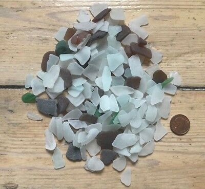 Sea Glass 200 gram Cornish Vintage Glass Crafts mosaic English SMALL PIECES