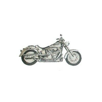 Motor Cycle Embroidered Iron On Applique x 1