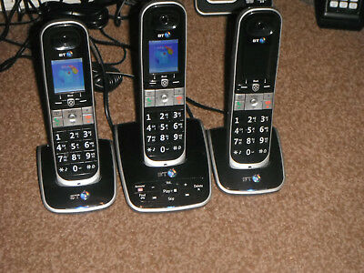 Bt 8610 Triple Cordless Phones With Answering Machine & Advanced Call Blocking