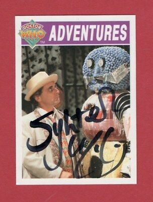 Dr Who Signed Cornerstone Card 54  By Sylvester Mccoy