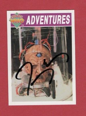 Dr Who Signed Cornerstone Card 48  By Terry Molloy