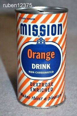 1954 Mission Orange 12 oz. Drink Tin Promo Can Coin Bank, Premium / Promotional