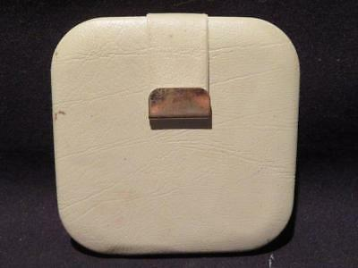 Revlon White Leather Look Vintage Mirrored Compact with Blush & Puff