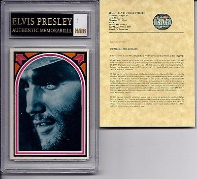 ELVIS PRESLEY Authentic HAIR MEMORABILIA With 1978 Trading Card #6 CERTIFIED