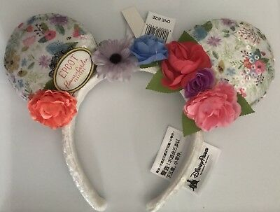 Disney Parks Minnie Mouse Ears Epcot Flower  Garden Festival 2018 Headband