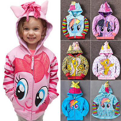 My Little Pony Wing Girls Kids Toddler Hoodie Cute Sweatshirt Coat Zipper Jacket