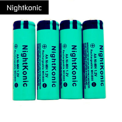 High Quality Nightkonic AA NI-MH 1.2V MH 3800 Rechargeable Batteries