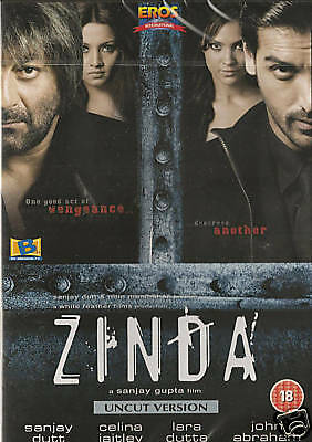 Zinda - Sanjay Dutt - John Abraham - New Bollywood Dvd - Free Uk Post