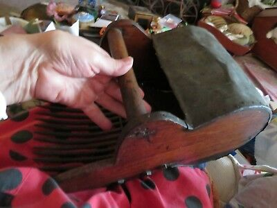 Interesting OLD wood and metal blueberry rake