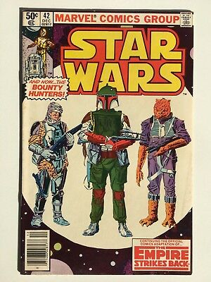 Star Wars # 42 1st app Boba Fett Bounty Hunter FN Rare