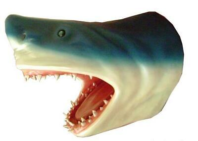 Fun Shark Head Wall Sculpture Art Seafood Restaurant Nautical Beach Jaws 22inch